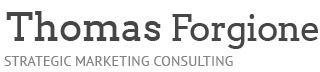 Thomas Forgione, Author and Strategic Marketing Consultant Logo